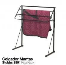 COLGADOR PARA MANTAS STUBBS S891 NEGRO