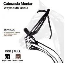 CABEZADA MONTAR SENCILLA S-2873S COB NEGRO
