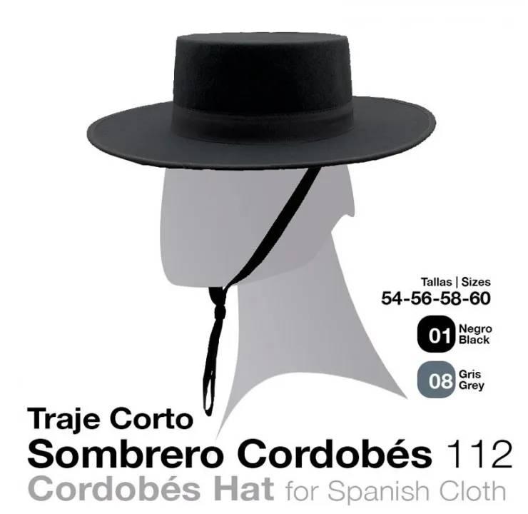 73d67a4fc13 SPANISH CLOTH  .CORDOBES. HAT No  112 BLACK 54 - Zaldi