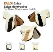 Z-E FUR COVER MENORQUINA SADDLE BLACK LEATHER