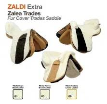 Z-E FUR COVER TRADES T+T SADDLE BLACK LEATHER
