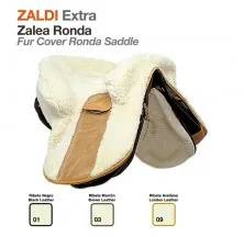 Z-E FUR COVER RONDA SADDLE BLACK LEATHER