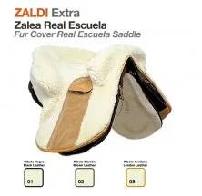 Z-E FUR COVER REAL ESCUELA SADDLE BLACK LEATHER