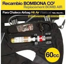 CHALECO AIRBAG HIT AIR BOMBONA 60CC MLV-C tallas:L-XL