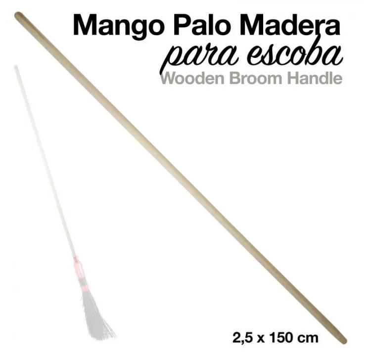 MANGO PALO MADERA PARA ESCOBA
