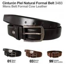 CINTURÓN PIEL NATURAL FORMAL BELT 3483