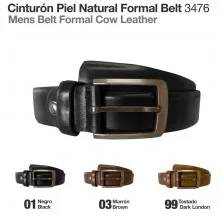 CINTURÓN PIEL NATURAL FORMAL BELT 3476