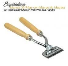 ESQUILADORA MANUAL 33 PÚAS MANGO MADERA
