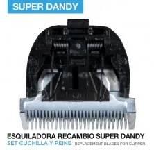ESQUILADORA RECAMBIO CUCHILLA SET CUCHILLA Y PEINE SUPER DANDY