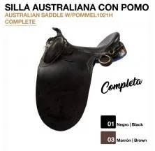 AUSTRALIAN SADDLE W/POMMEL (COMPLETE) BLACK 1021H