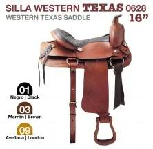 WESTERN TEXAS SADDLE 16. 0628 BLACK