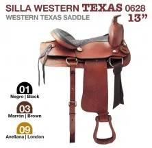 WESTERN TEXAS SADDLE 13. 0628 BLACK