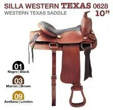 WESTERN TEXAS SADDLE 10. 0628 BLACK