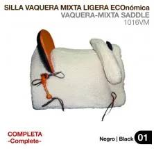 SILLA VAQUERA MIXTA LIGERA ECO. (COMPLETA) NEGRO