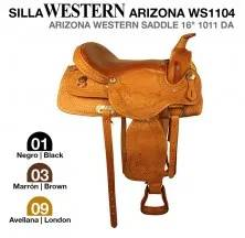"ARIZONA WESTERN SADDLE 16"" 1011 DAZ BLACK"