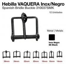 HEBILLA VAQUERA INOX NEGRO 310037SMK 12uds