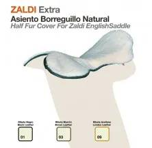 HALF FUR COVER FOR ZALDI ENGLISH SADDLE BLACK