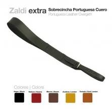 PORTUGUESA LEATHER OVERGIRTH BLACK