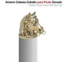 GOLDEN HORSE HEAD HITCHING POST