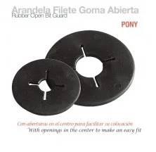 ARANDELA FILETE GOMA ABIERTA PONY NEGRO