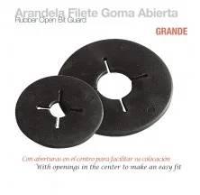 ARANDELA FILETE GOMA ABIERTA GRANDE NEGRO