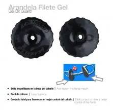 ARANDELA FILETE GEL BIT GUARD AC9-BLK (PAR) NEGRO