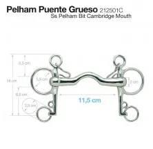 BOCADO PELHAM PUENTE GRUESO 212501C