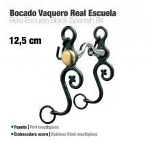 BOCADO VAQUERO REAL ESCUELA EMBOCADURA ACERO 12.5cm