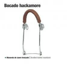 BOCADO HACKAMORE CUERO TRENZADO 25111