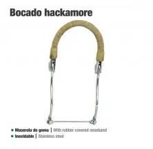 BOCADO HACKAMORE INOX GOMA 25108