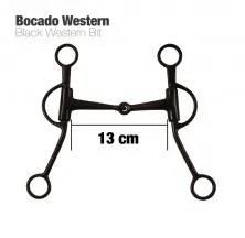 BOCADO WESTERN NEGRO MO00162 13cm