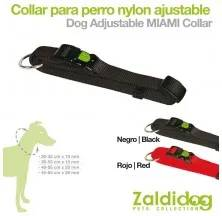 PERRO COLLAR NYLON AJUSTABLE 20-35cm x 10mm NEGRO