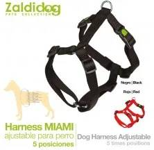 PERRO HARNESS MIAMI 5-AJUSTES 30-40cm x 15mm NEGRO