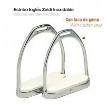 ESTRIBO INGLÉS ZALDI INOXIDABLE CON TACO 22108