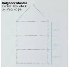 COLGADOR PARA MANTAS 24430