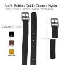ACIÓN ESTRIBO DOBLE CUERO/NYLON
