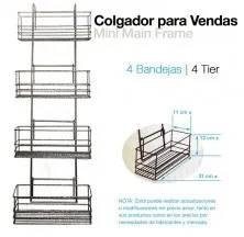 COLGADOR PARA VENDAS 4 BANDEJAS 244298