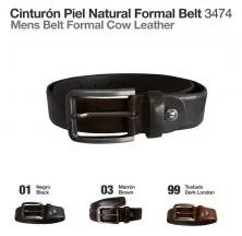 MENS BELT FORMAL COW LEATHER MLI-MB-3474