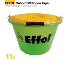 COMEDERO CUBO EFFOL EIMER CON TAPA 17 litros