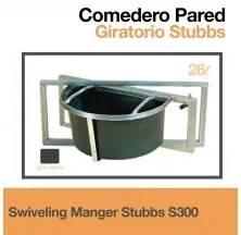 SWIVELING MANGER STUBBS S300 GREY