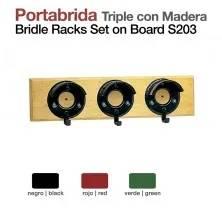 PORTA-CABEÇADAS TRIPLO C/MADEIRA STUBBS S203