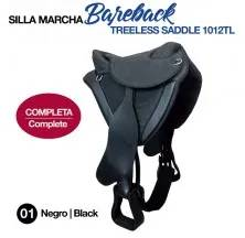 BAREBACK TREELESS SADDLE 1012TL BLACK