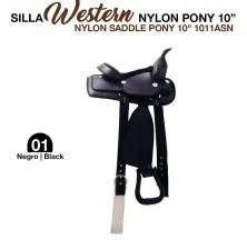 "WESTERN NYLON SADDLE PONY 10"" 1011ASN BLACK"