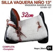 "SILLA VAQUERA NIÑO 13"" (32cm) COMPLETA"