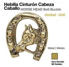 HORSE HEAD BELT BUCKLE (1UNIT)