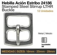HEBILLA ACIÓN ESTRIBO INOX 24186 12uds