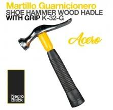 SHOE HAMMER WOOD HANDLE W/GRIP K32-G