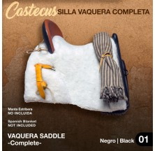 VAQUERA SADDLE CASTECUS (COMPLETE) BLACK