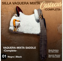 VAQUERA-MIXTA SADDLE CASTECUS (COMPLETE) BLACK
