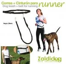 DOG LEASH + BELT FOR RUNNING BLACK